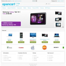 Beauty Hoojar Theme template For OpenCart
