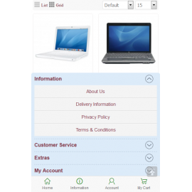 Perfect mobile website store (VQMOD) For OpenCart