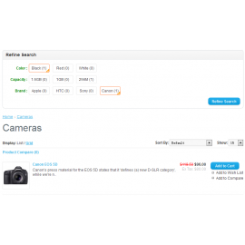 Nice Style Product Filter For Opencart