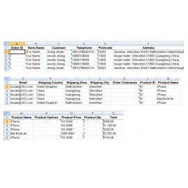 Export Orders To Excel Or CSV Or XML Or All For OpenCart